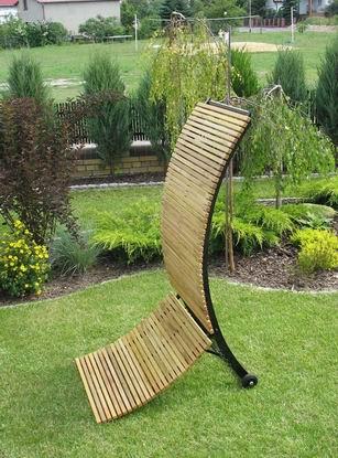 Gartenliege Robinie - Metall