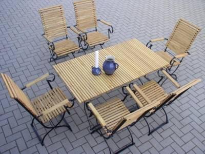 Hervorragend Gartenmöbelgarnitur Metall Robinienholz 6 Hochlehner Mit Armlehne 1  Gartentisch / Tischgrössen 115/140/180x75 Cm. Preis: 988,00 EUR  (versandkostenfrei) ...