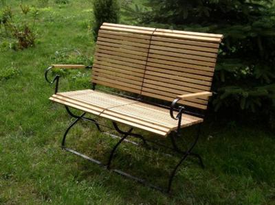 Klassische Gartenmobel Mit Gartenbank Robinie Und Metall Iter