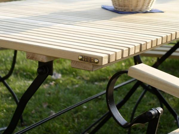 Sehr Gartenmöbel Robinienholz und Metall | Gartentische-Metall | ITER  UC06